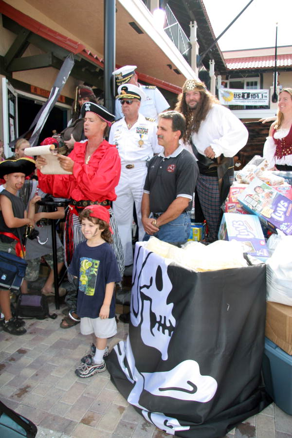 Hurricane Katrina relief drive at the Pirate Soul museum - Key West, Florida.