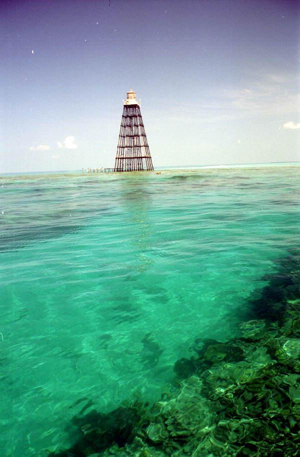 The Sand Key lighthouse off Key West, FL..