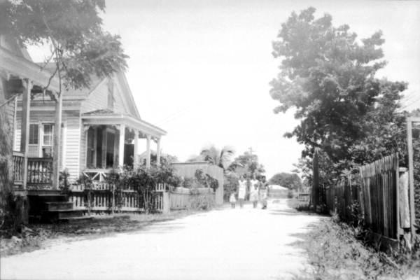 """Old """"Conch"""" neighborhood, Key West, Florida.."""