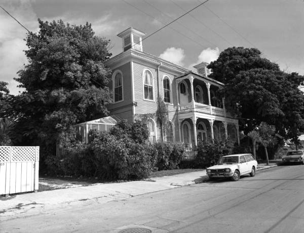 "The old ""Mercedes Hospital"" on Virginia Street, Key West, Florida.."