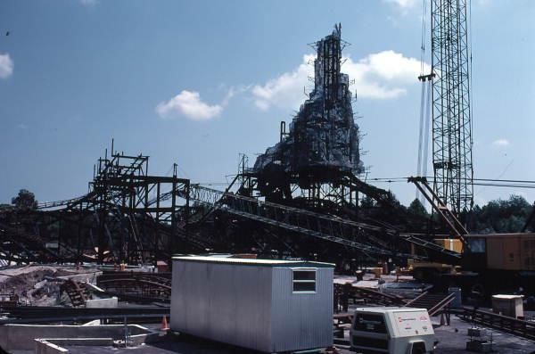 Construction of Big Thunder Mountain amusement ride at the Magic Kingdom - Orlando, Florida.