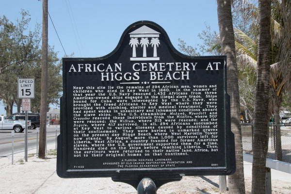 African cemetery at Higgs Beach..