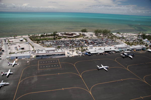 Aerial view of the Key West International Airport.