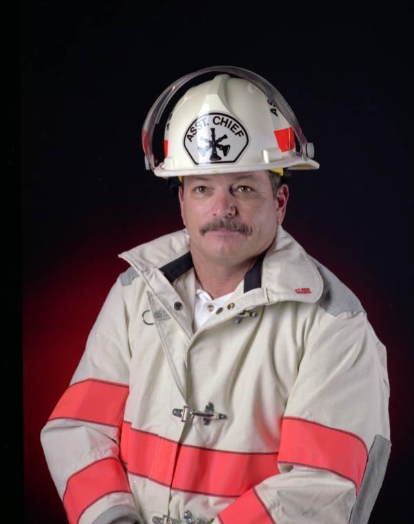Portrait of Key West Naval Air Station fire rescue Assistant Chief Dale M. McDonald.