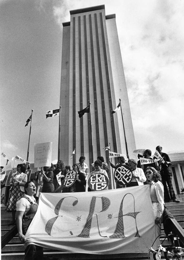 ERA supporters demonstrate at the state capitol - Tallahassee, Florida.