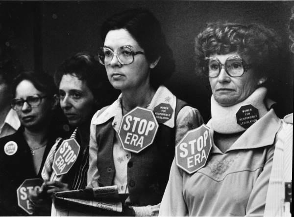 Anti-ERA women line the wall of Senate chambers - Tallahassee, Florida.