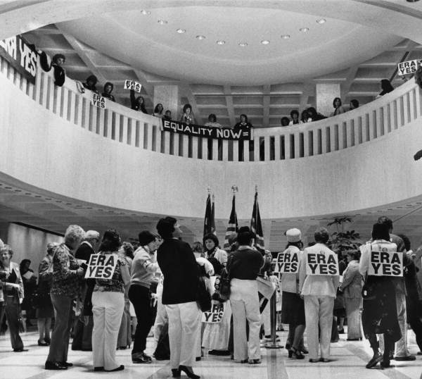 ERA backers in the capitol rotunda - Tallahassee, Florida.