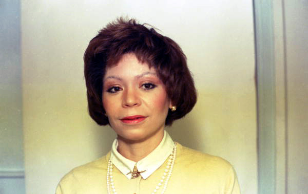 Portrait of Capitol Press Corps television reporter Gayle Andrews.