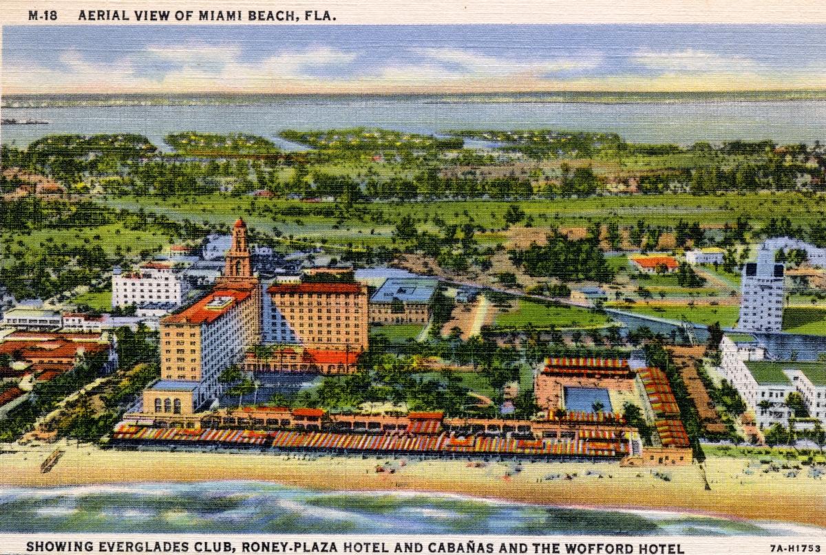 Aerial view of Miami Beach, Fla.