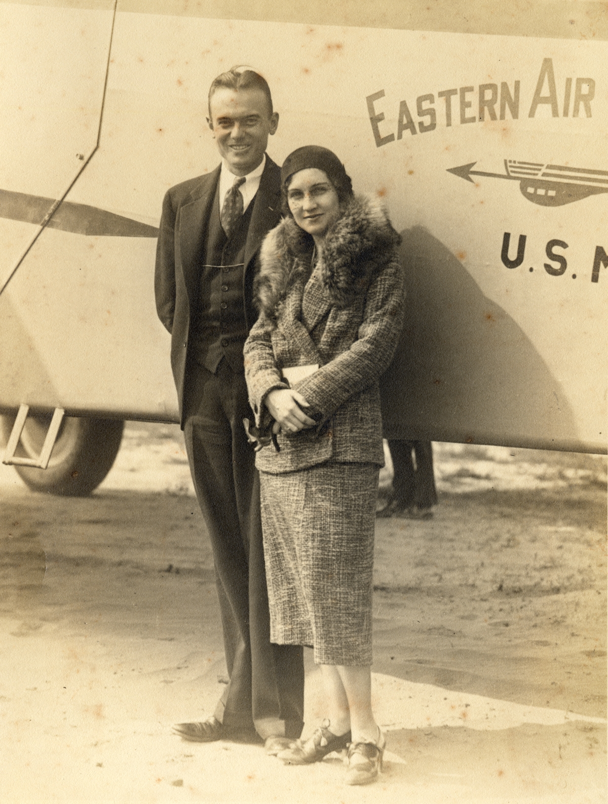 Bob and Betty Young leaving on honeymoon from Jacksonville.