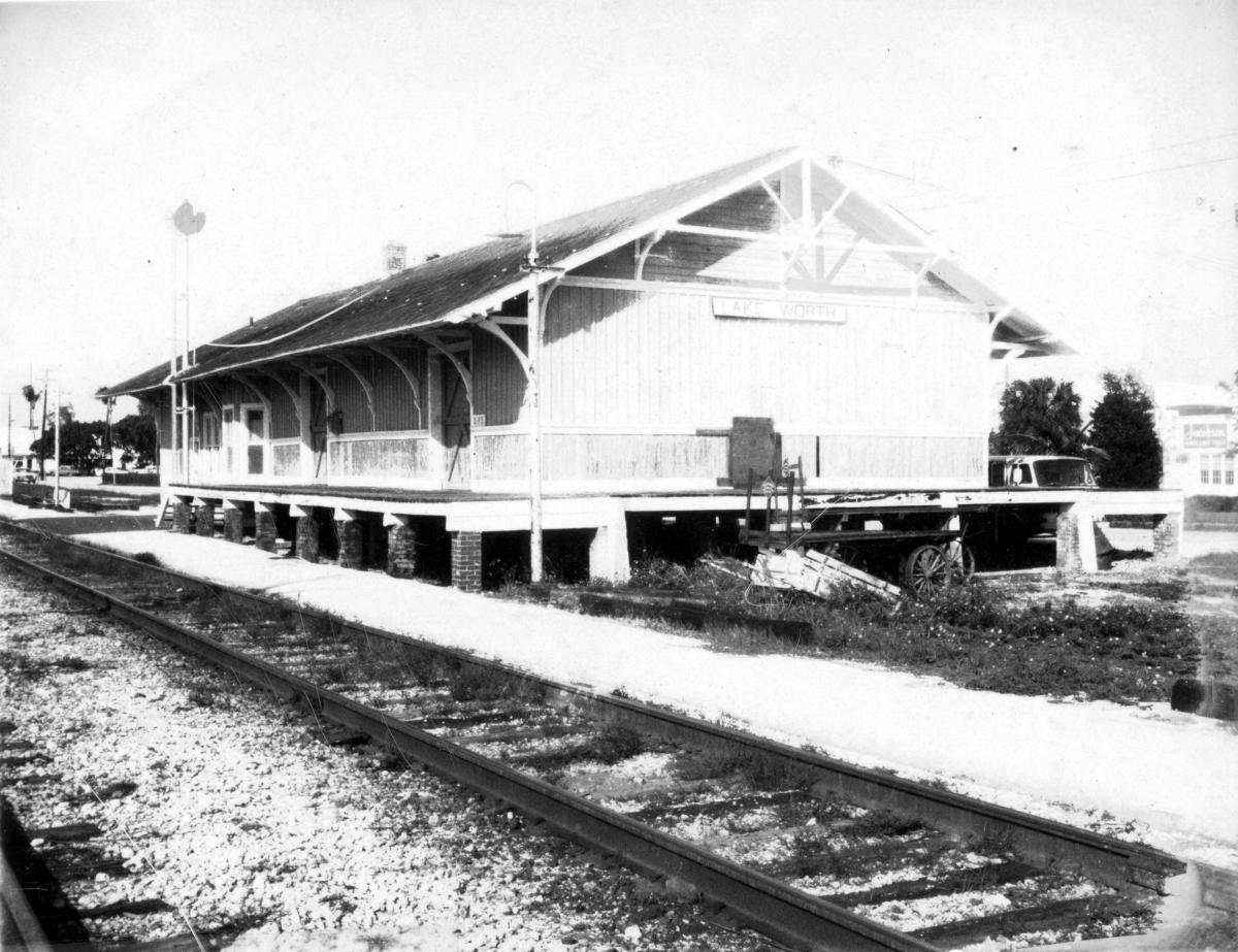 FEC Railway station at Lake Worth, Florida.