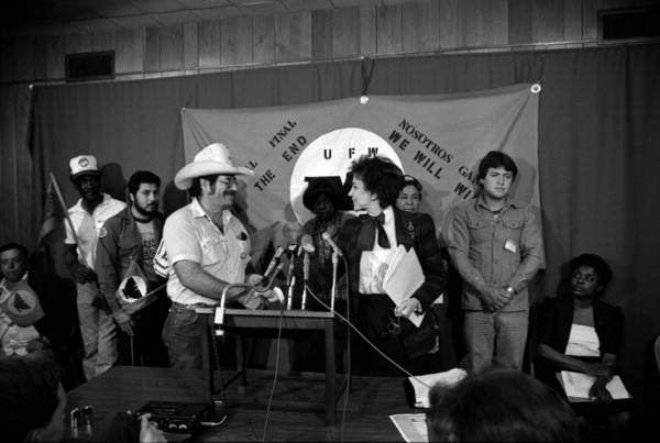 Members of United Farm Workers of America at press conference - Tallahassee, Florida.