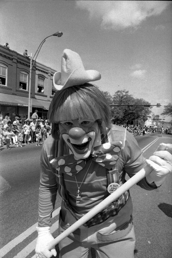 Clown in the Springtime Tallahassee parade - Tallahassee, Florida.