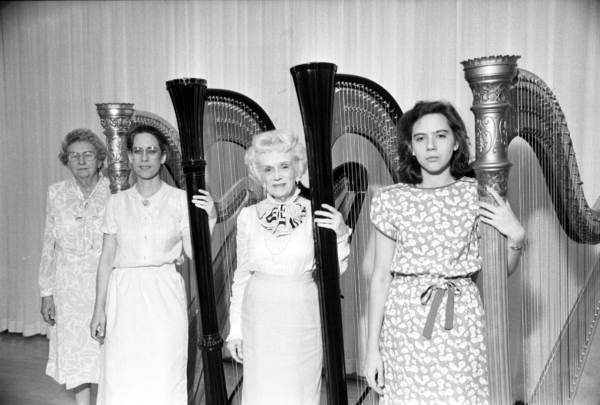 Harpists with their harps. - Tallahassee, Florida.