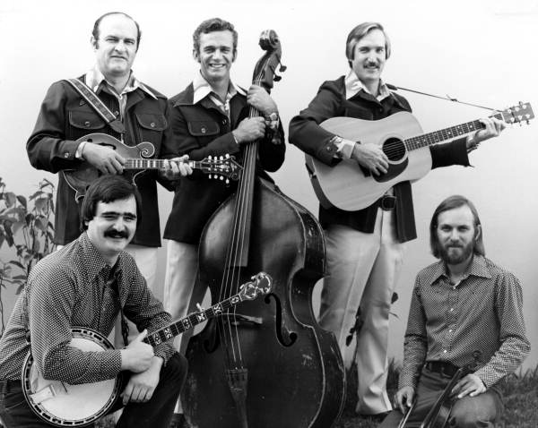 Group portrait of the Orange Blossom Bluegrass band in Tampa, Florida.
