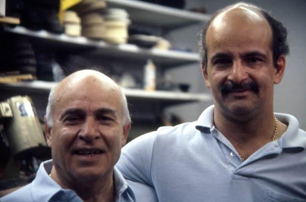 Shoe repairmen Santo and Tony Mongoli - Lantana, Florida.