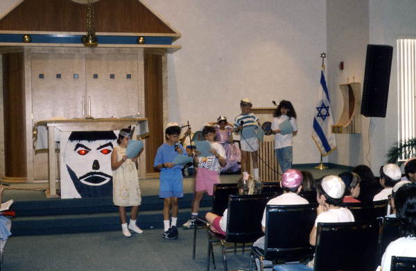 Children of Congregation Beth Am performing Purim play - Orlando, Florida.