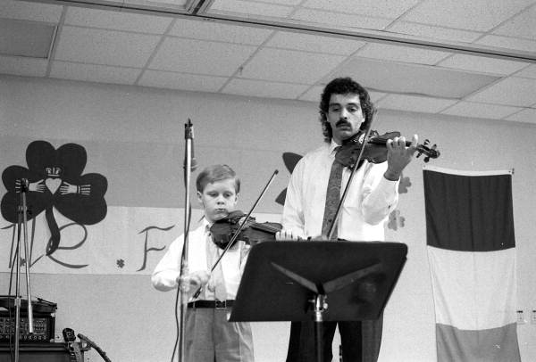 Unidentified fiddlers performing - Jacksonville, Florida.