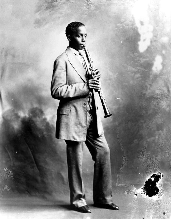 Portrait of blues clarinet player Raymond Sheppard - Pensacola, Florida.