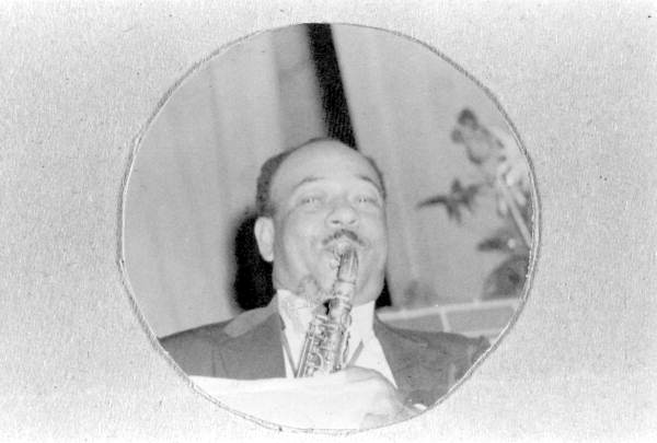 Portrait of Frank Edwards playing the saxophone - Pensacola, Florida.