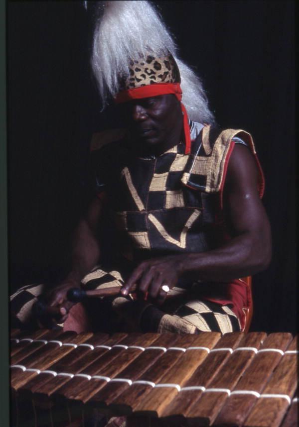 Martin Zagbo playing a xylophone - Orlando, Florida.