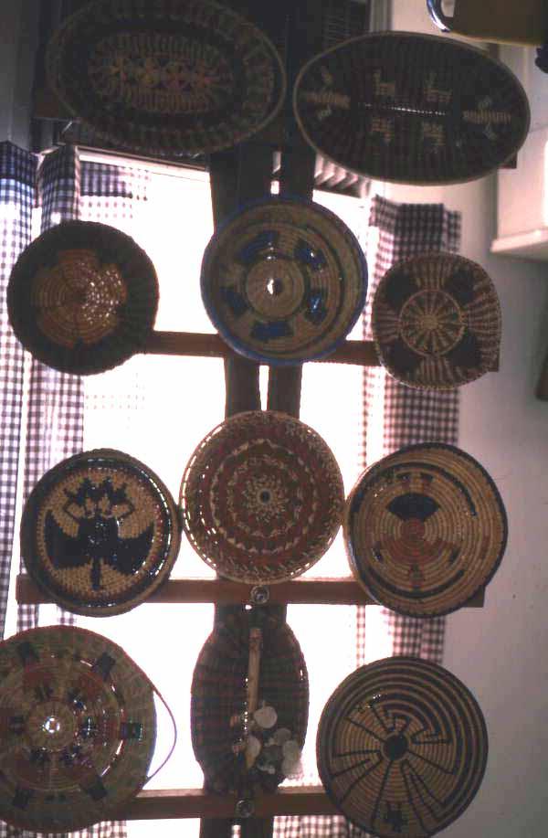 Baskets on display at Pioneer Days - Orlando, Florida.