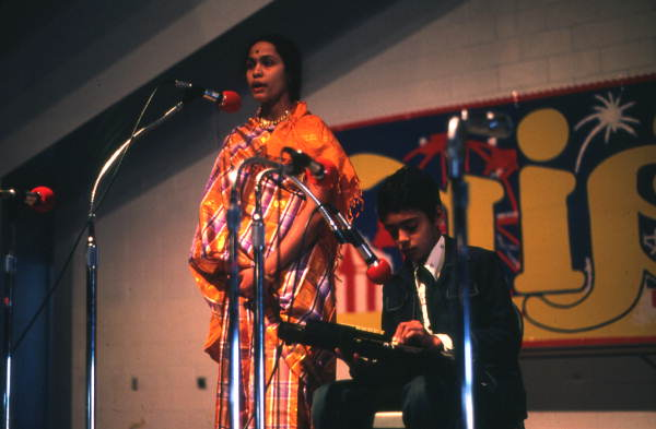 Indian musicians performing - Pensacola, Florida.