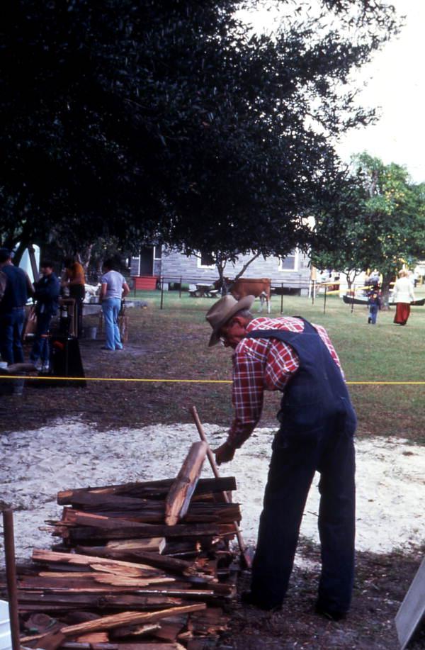 Collecting firewood - Orlando, Florida.