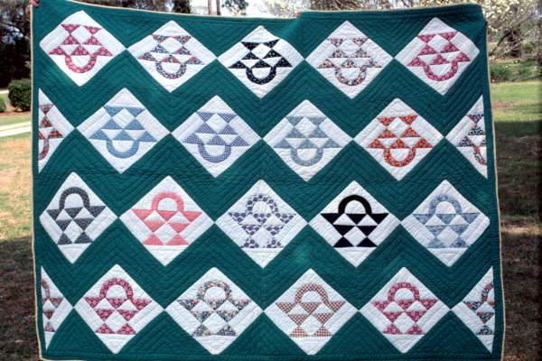 fruit basket or flower basket quilt made by grace scaff   white springs