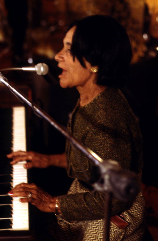 Ida Goodson playing piano at the Club Royal - Pensacola, Florida.