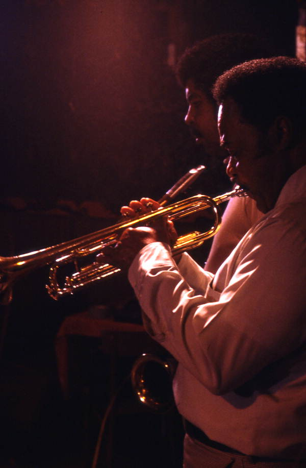 James Franklin Davis playing trumpet at Club Royal - Pensacola, Florida.