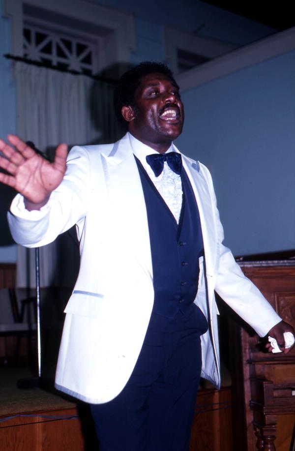 Member of the Master Keys Quartet singing - Jacksonville, Florida.