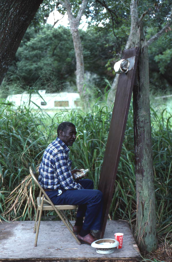 Moses Williams playing the diddley bow - Orlando, Florida.
