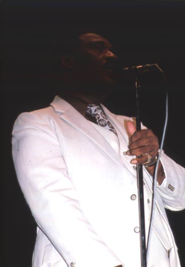 Member of the Dixie Hummingbirds performing during the Gospel Concert Reunion - Orlando, Florida.