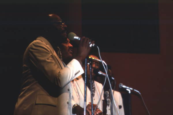 View of the Dixie Hummingbirds performing during the Gospel Concert Reunion - Orlando, Florida.