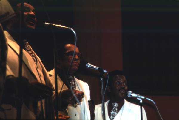 View showing the Dixie Hummingbirds performing at the Gospel Concert Reunion - Orlando, Florida.