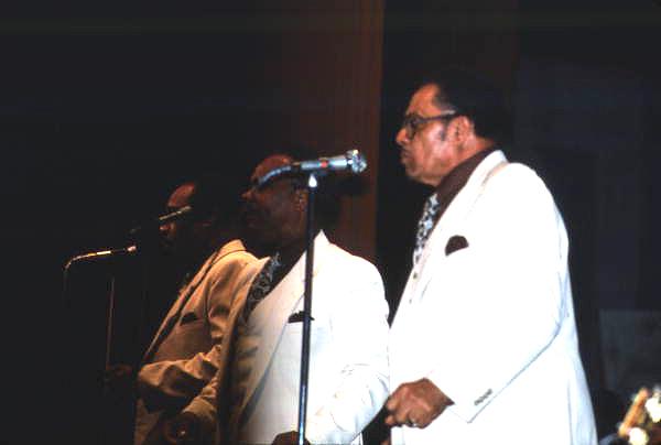 View of the Dixie Hummingbirds performing at the Gospel Concert Reunion - Orlando, Florida.
