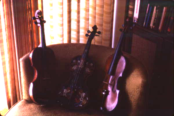 Violins made by Otinus Busness - Jacksonville, Florida.