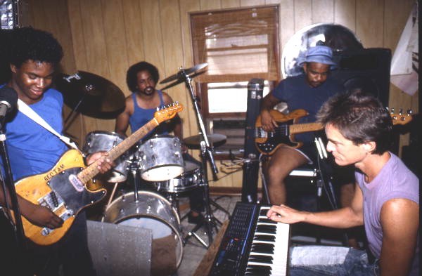 Red Tam, Kenny Johnson, Kenny Holt, and Mike Gallen playing blues music - Jacksonville, Florida.