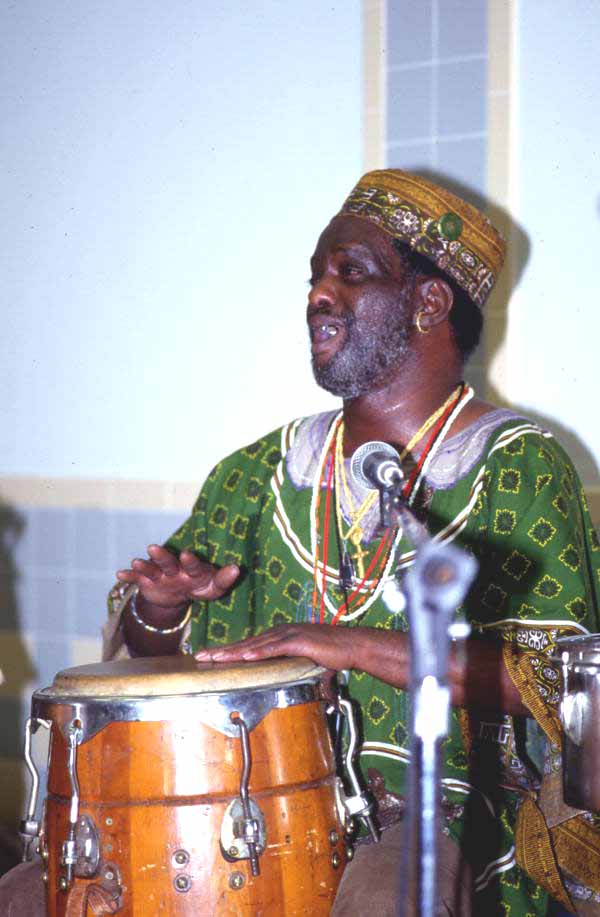 Member of Voice of the Ancestors performing - Jacksonville, Florida.