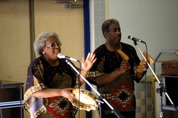 Georgia Sea Island Singers performing slave songs and spirituals at John E. Ford Elementary School - Jacksonville, Florida.