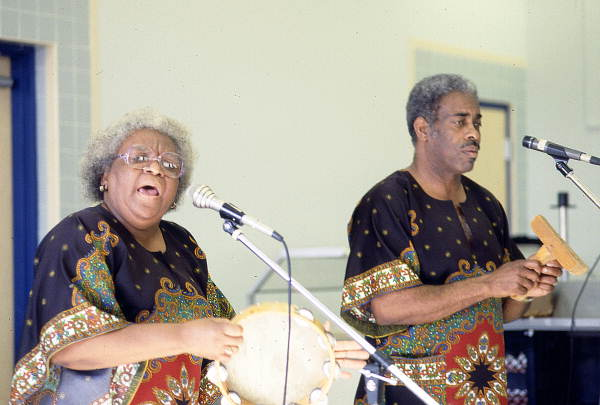 Georgia Sea Island Singers performing slave songs and spirituals at John E. Ford Elementary School - Jacksonville, Florida.