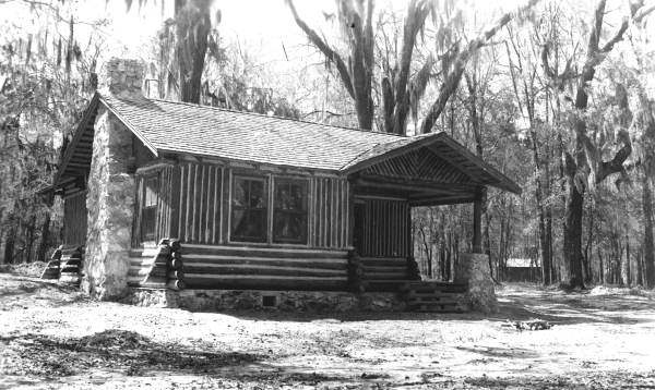 Guest cabin at completion of construction.