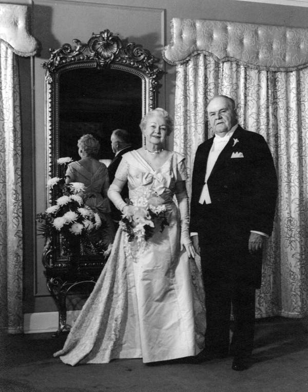 Former governor John W. Martin and his wife on their 50th anniversary.