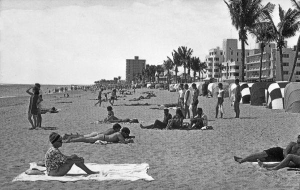 Beach scene - Fort Lauderdale.