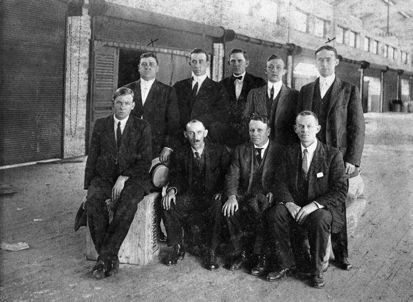 Florida East Coast Railway warehouse staff - Jacksonville, Florida.