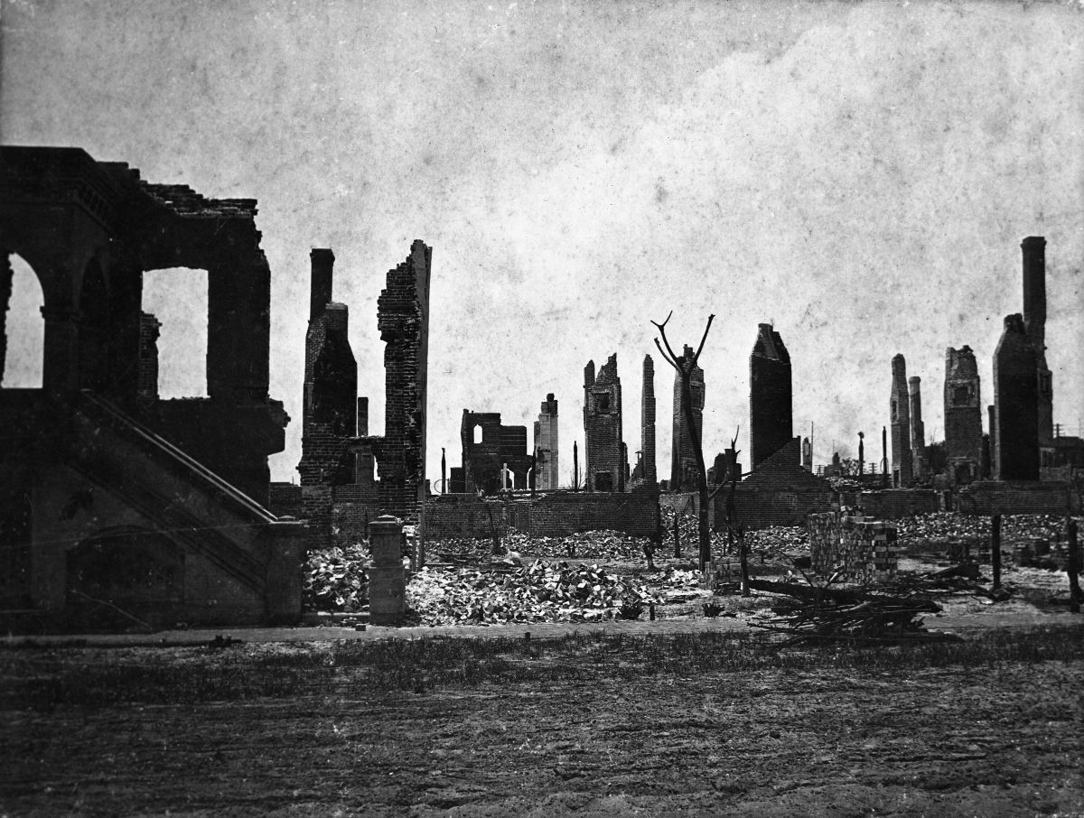 Church Street after the Fire of 1901 - Jacksonville, Florida.