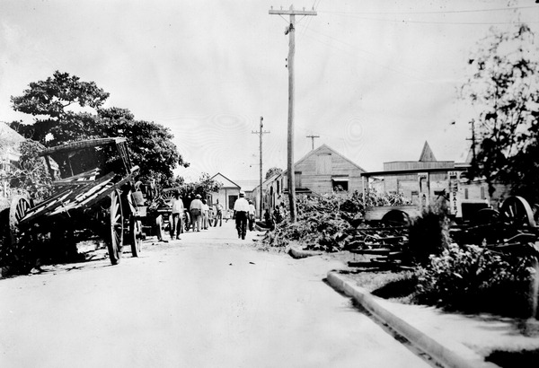 Clean-up of trash and debris from neighborhoods - Key West, Florida.