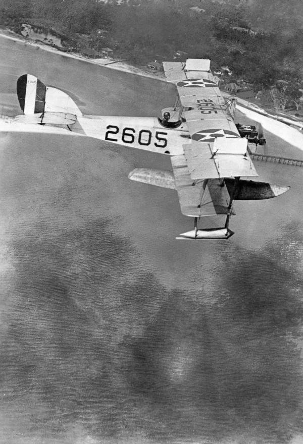Seaplane over Pensacola region.