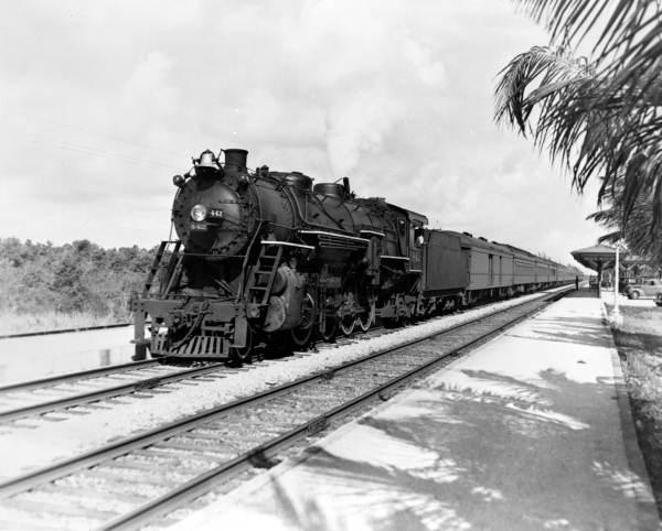 Boca Raton Shopping >> Florida Memory - Florida East Coast Railway engine number 442 southbound - Boca Raton, Florida.